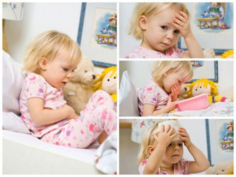 У ребенка температура и рвота